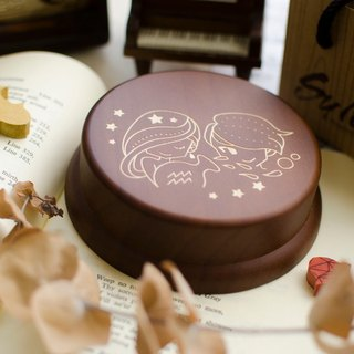 [Birthday Gift, Commemorative Gift, Christmas Gift] 12 Constellation Aquarius / Music Box