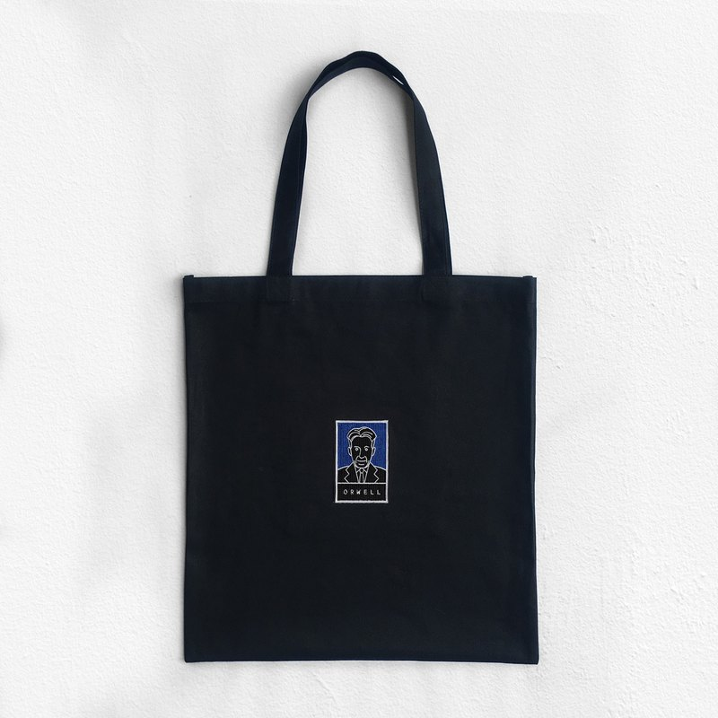 ORWELL  (Embroidery Portrait) : Tote Bag