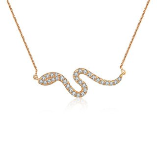 Snake Shape Diamond Necklace