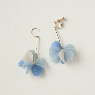 Petal Earrings / Earrings / Blue