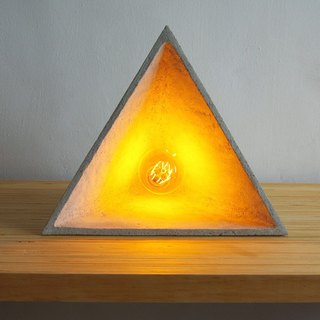 Triangle cone situation cement desk lamp