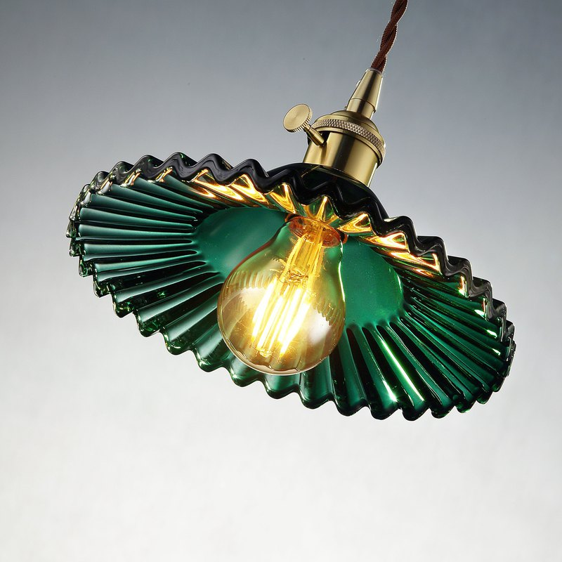 [Dust Year Old] Nostalgic copper glass chandelier PL-1657 with bulb