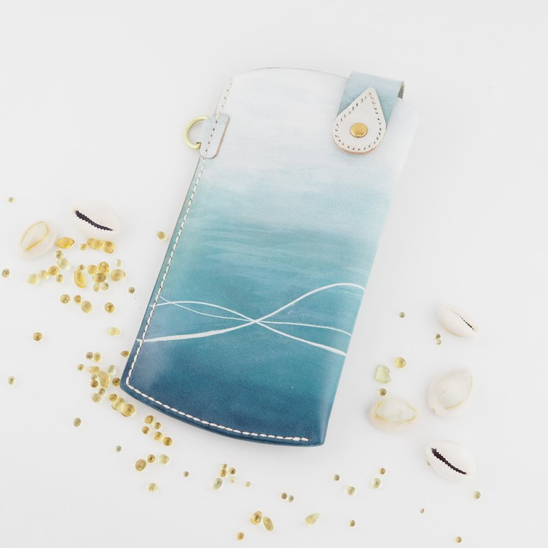 Marine style mobile phone case phone bag blue white