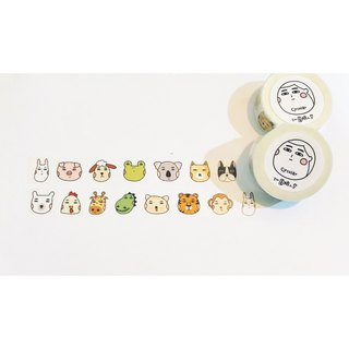 Circular Round Face Man - Fruit Life Waterproof Sticker Combination Bag (9 in)