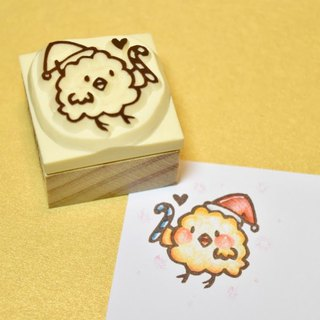[Christmas limited] Christmas Chick - Katz manual rubber stamp