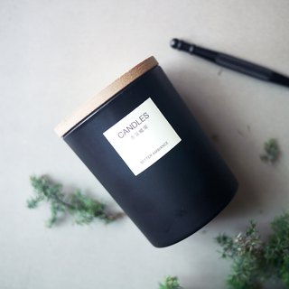 Good atmosphere | Tranquil black natural essential oil candle 150ml