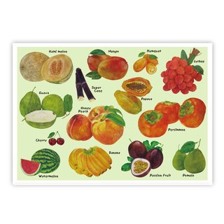 I love Taiwan postcards ● Taiwan fruit Taiwanese Fruit