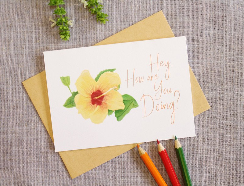 Flower Card  Greeting Card