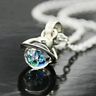 Saturn Baby Pendant Blue・iceblue Color