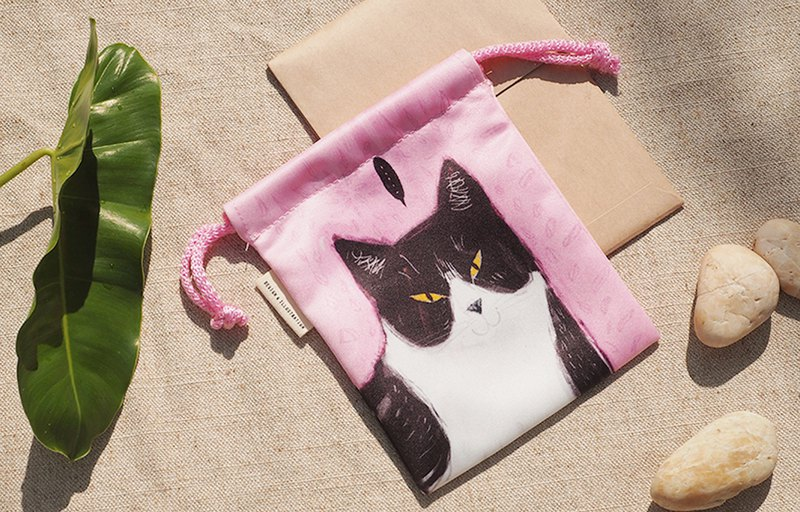 SMALL BAG WITH CAT PINK