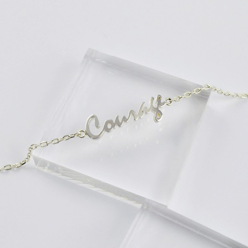 Sterling Silver Custom Name Bracelet