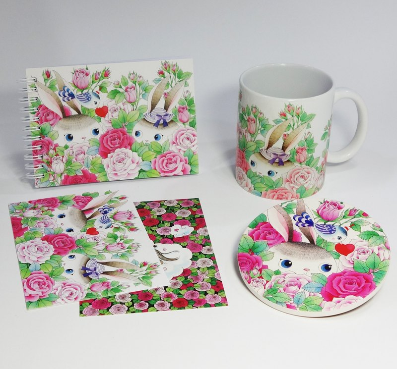 Rose Bunny Combination Bag (four items) (additional)