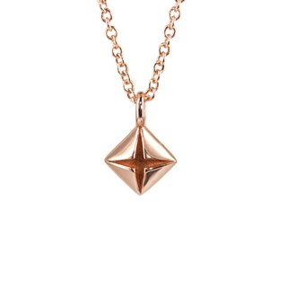 Origami Diamond Rose Gold 925 Minimal Necklace