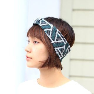 【The MAMA's Closet】Triangle(Green) / Knitted Headband