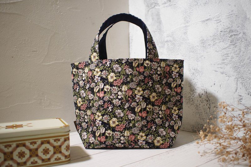 House wine series lunch bag / tote bag / limited edition handmade bag / small daisy / pre-order