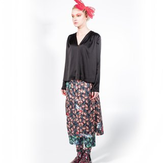 Butterfly wings prints loose leg pants