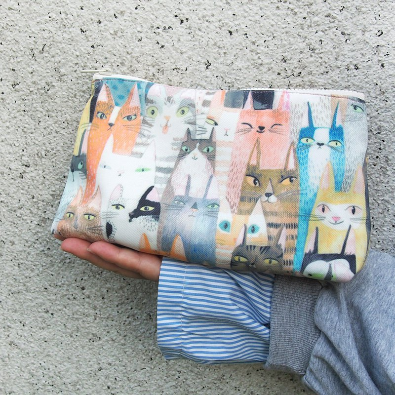 Waterproof Handmade Storage Cosmetic Bag - Cat