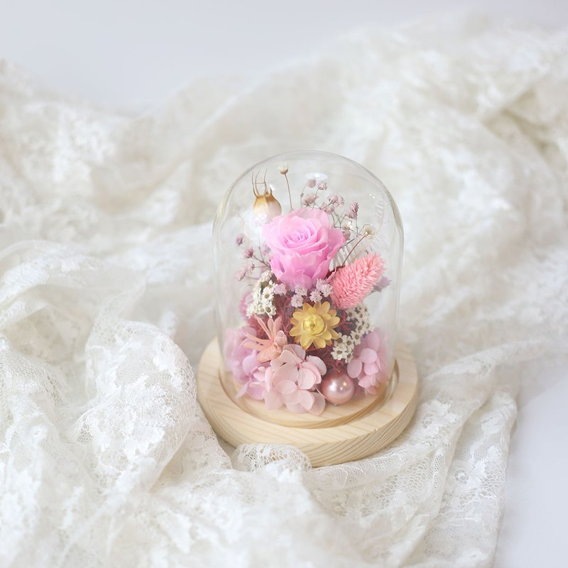 璎珞 Manor*S15*Glass cover 永 / eternal flower dry flower / exchange gift / Valentine's Day / gift preferred