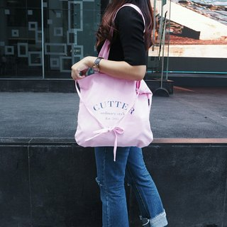 tote Bag: 'emma look sweet' (pink and navy)