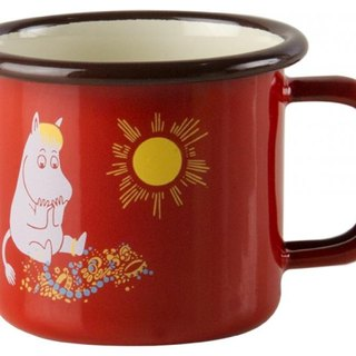 Moomin Finland glutinous rice espresso coffee cup 1.5dl / Christmas gift / exchange gift (2016 summer new ruby ​​red glutinous rice)
