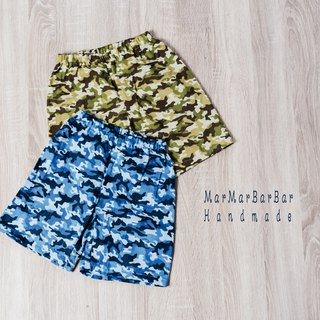 Double yarn shorts - camouflage hand made non-toxic children's pants shorts