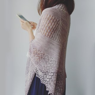 Lilac lace shawl woven and weaving instructions (excluding wire and tools)