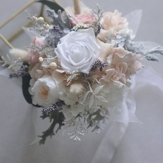 Vintage Gradation Pink Rose Hydrangea Permanent Flower Flower Bouquet Overseas Wedding Applicable Elegant Bouquet