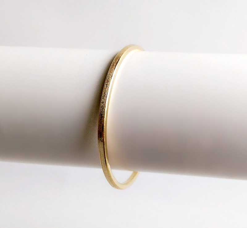 [Original color] Hand brass scrub single fog face ring