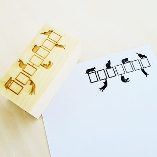 ZIP frame stamp of cat silhouette (Japan's postal number correspondence)