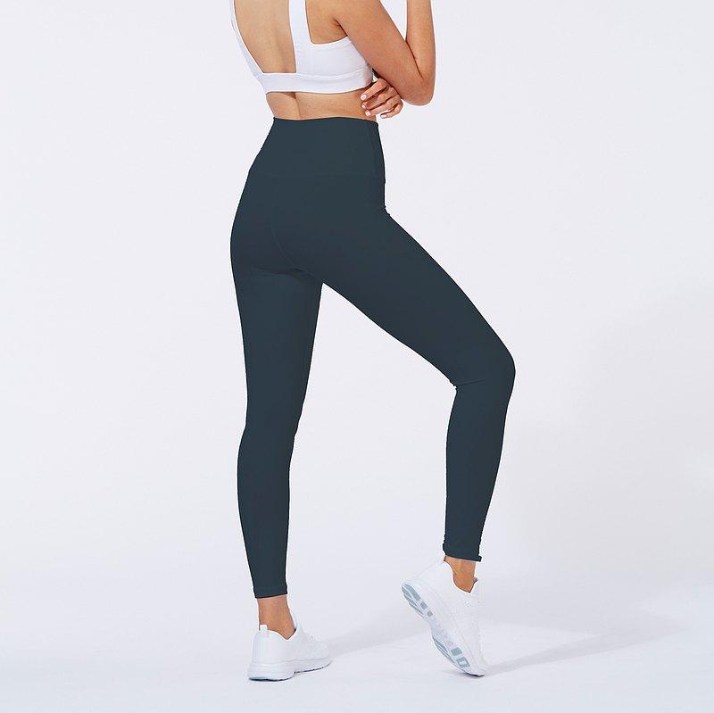 ATY空氣棉感系列 2020藍貓灰 真高腰緊身褲/瑜珈褲/leggings