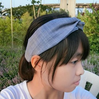Plain elastic cross section headband Hairband*SK*