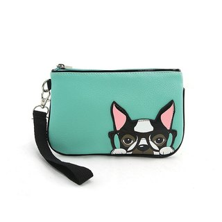 Sleepyville Critters - Nerdy Boston Terrier Wristlet