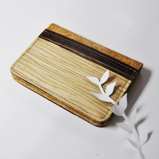 Paralife Personalized Name Wood Mixed Cork case Card Holder