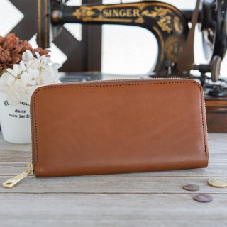 Japan manufactured cowhide packaging Tochigi leather production brown made in JAPAN handmade leather wallet