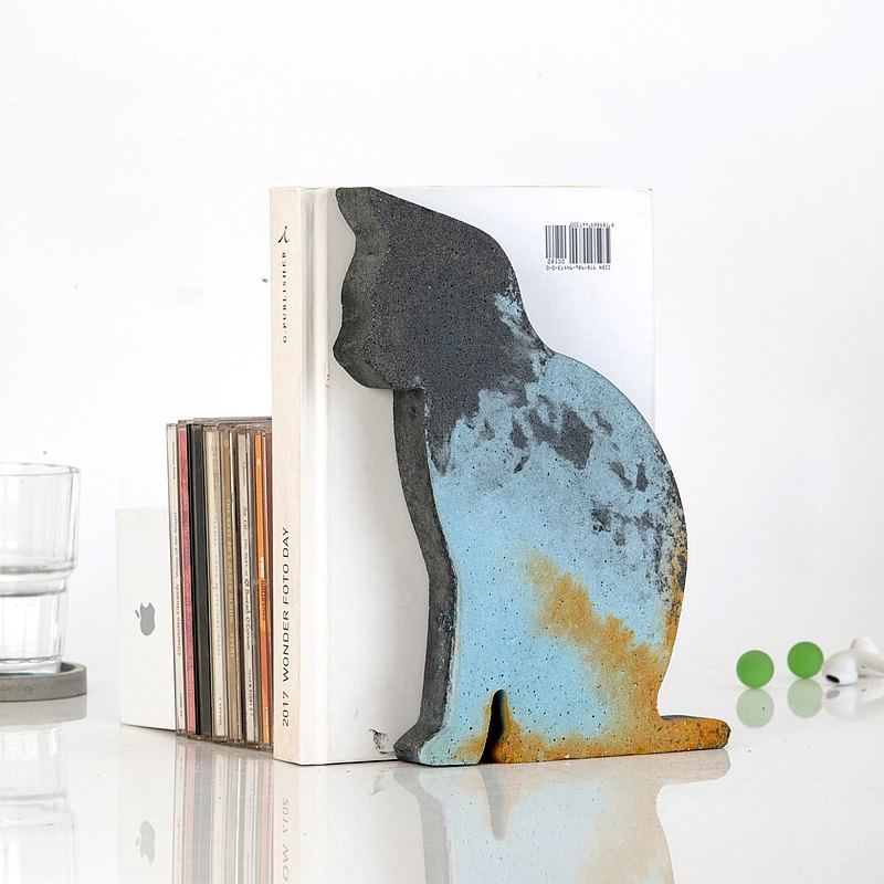 Cement, cats, ornaments, bookends, animals