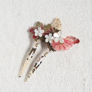 Wu Qiu Feng, butterfly hair plug, hairpin, hairpin - autumn yellow
