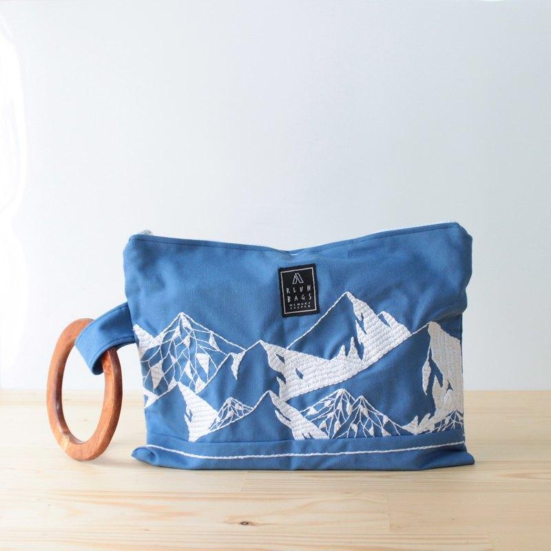 Hand Embroidered Bag Mountain Designer Rlun Bags Pinkoi