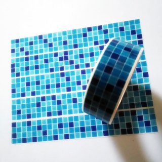 Masking Tape Blue Mosaic Tiles