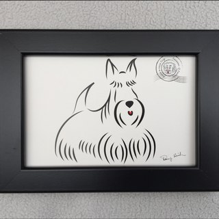 Q Family Postcard Frame Scottish Terrier