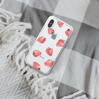 Illustration strawberry iphone case for i6,i6plus,i7,i7plus,i8,i8plus,iX Case