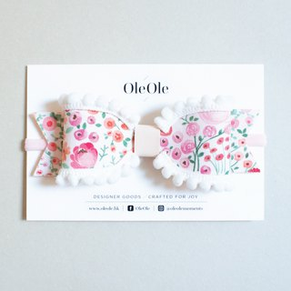 Baby headband Floral fabric Pastoral style with a small fresh butterfly Giant butterfly headband Children headband Baby headband Hair accessories Hair band Children headdress Pom Pom