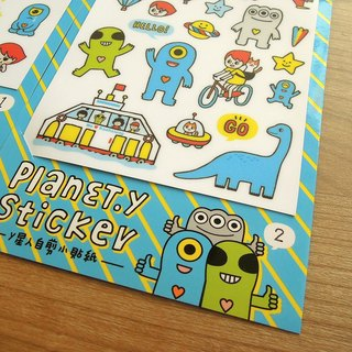 y planet _ waterproof self-cut stickers