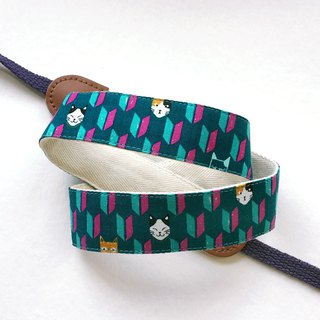 Cat Arrow Feather Camera Strap - Blue Green