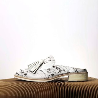 marble pattern loafer