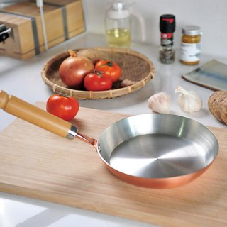 Japanese Tanabe Gold Copper Flat Handle Frying Pan-20cm