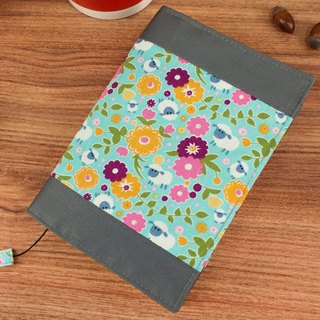 [Book's clothing] limited A6 / 50K adjustable multi-function cotton cloth book / cotton book cover-D lamb and floret / blue
