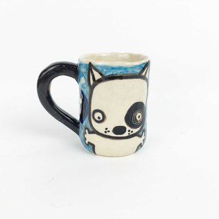 Nice Little Clay Little Mug Black Wheel Dog 01192-01