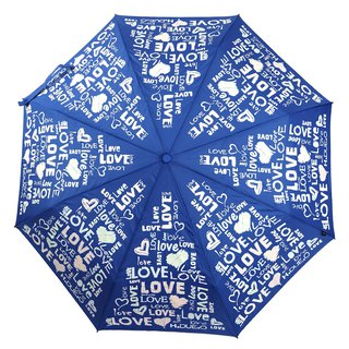 [Italy H.DUE.O] LOVE color change anti-UV tri-fold automatic opening umbrella