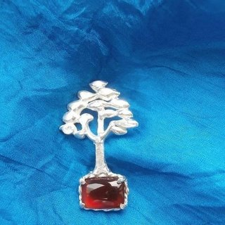 Red agate brooch