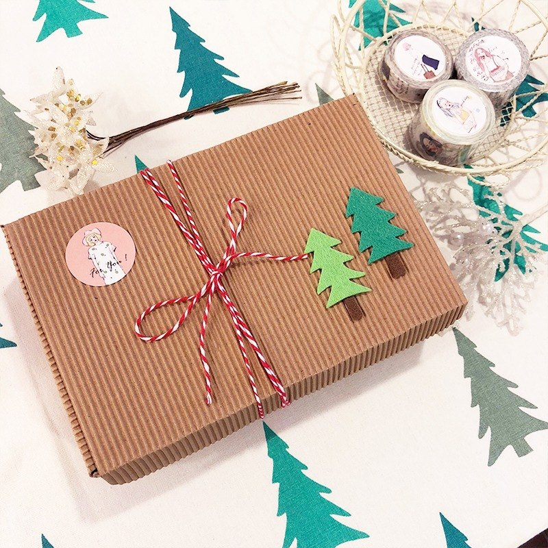 Girl Christmas gift box - small Christmas tree packaging design (limited edition)